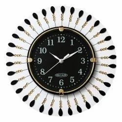 Night Glow Multicolor Designer Round Wall Clock, For Home