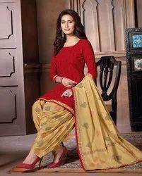 Stitched Baalar Cotton Churidar Readymade Patiyala Set, Handwash