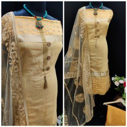 Maitrik Fashion Embroidered Modal Silk Dress Material For Regular