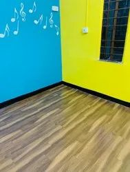 Wooden colour PVC Flooring, Size: 1 Roll 650 Square Feet
