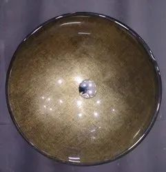 Decorative Burnt Gold Glass Wash Basin Counter Top, For Bathroom