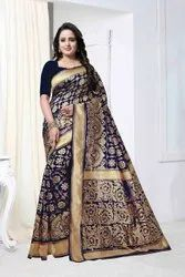 Ligalz Presenting Beautiful Banarasi Silk Sarees With Rich Pallu