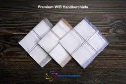 Premium White Border Handkerchiefs