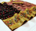Ligalz Presents Cotton Jacquard Saree With Blouse