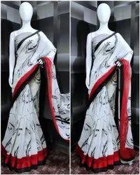 Ligalz presents line silk saree with blouse