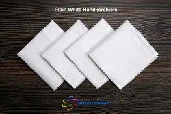 Plain White Handkerchiefs