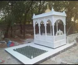 Carved White marble Dargah Carving, For Corporate Gifting, Size: 7x4