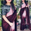 Plain Satin Saree