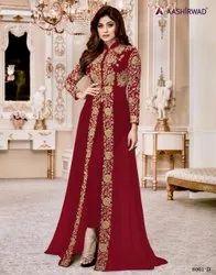 Georgette Red Aashirvaad Dresses