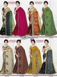 Printed Lace Saree