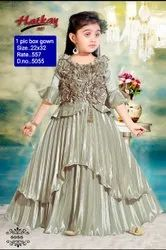 5055 Kids party wear gown