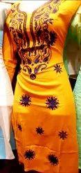 Cotton Casual Wear Ladies kurti, Wash Care: Machine wash