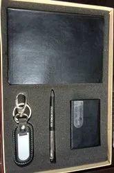 AV Enterprises Dairy Set 4 in 1 Personalized Pen, Diary, Cardholder And Leather Key Ring