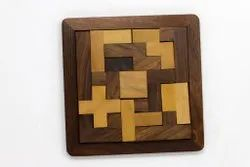 Wooden Puzzale Game Plate