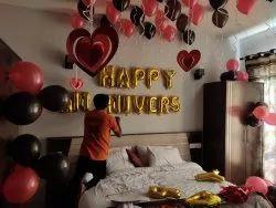 Balloon Decoration Service, in Noida, Area / Size: Big Open Lwan