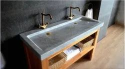 VIP Marbles Single Granite Wash Basin, Size: Random