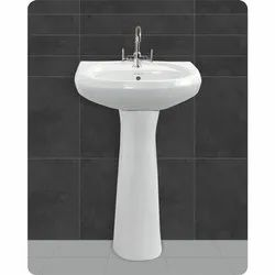 White Wash Basin pedestal 22 x 16 Size