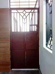 Metal Mild Steel Safety Door, For Home