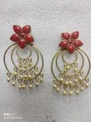 Red Gold Plated Earring Shipping Free