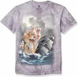 Cotton Printed T Shirt Printing