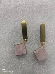 Stone earring