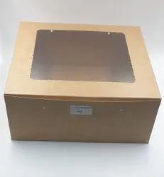Kraft Window Cake Box