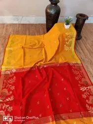 Wedding Red Handloom Cotton Saree