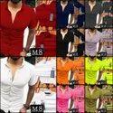 Stretchable Collar Neck Mens Shirt