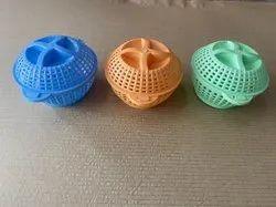 Round Plastic Storage Basket With Lid, Design/Pattern: Plain