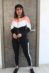 Ladies designer zipper track suit