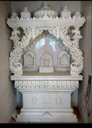 White Makrana Marble Home Temple, Size: 3 Ft
