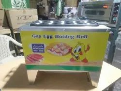 10 Tubes Gas Egg Roll Making Machine