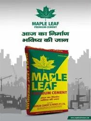 Grey MAPLE LEAF CEMENT WHOLESALE In Uttarakhand, Packaging Size: 50kg, Grade: Ppc 53mpa