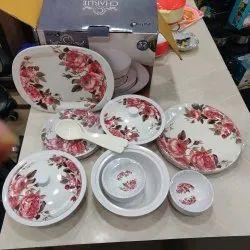 same Round Melamine Dinner Set 32 Pieces, For Home