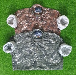 Satin Collar Neck Mens Printed Shirts