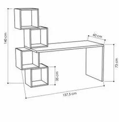 Wooden Square Unique study table