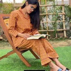 Ladies Printed Cotton Night Suit