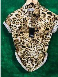 Rayon Collar Neck Mens Printed Half Sleeves Shirt, Handwash