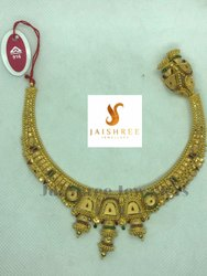 Festive Wear 22 K Gold Necklace Set, 31g