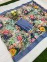 Digital Printed Linen Saree