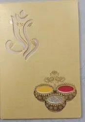Traditional Wedding Card, 3 Leaflet