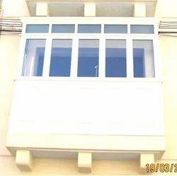 White Aluminium almumuium balcony covering, For Home