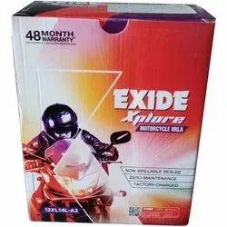 Exide Bullet Battery 14LB Xplore 12XL14L 14Ah