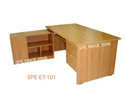 Pre Laminated Particle Board Executive Office Table, 1 Year