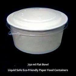 Paper Disposable Food Container Round With Pet Lid Salad Bowl