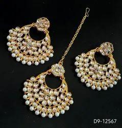 Maangtikka With Earrings