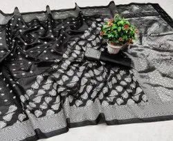 5.5 m (separate blouse piece) Festive Wear RFS269 Banarasi Sarees, With Stitched Blouse
