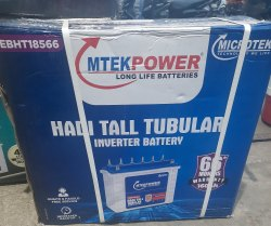 Microtek Tubular Battery Model No.EBHT18566 AH 160