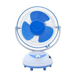 White,Blue Plastic 12 Inches Oscillating Table Fan Spare Parts