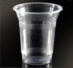 350ml Plain Disposable Plastic Glass, For Office, 1mm